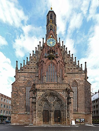 Peter Parler - Frauenkirche, Nuremberg, Germany, where the first sculpture by Peter Parler can be directly identified (1352–1356)