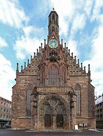 Frauenkirche, Nuremberg - Image: Nuremberg Frauenkirche edit