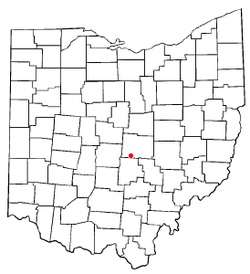 Location of Kirkersville, Ohio