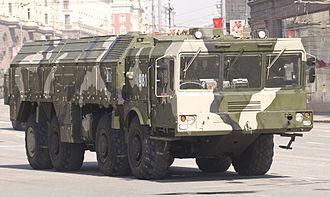 9K720 Iskander - An Iskander transporter-erector-launcher