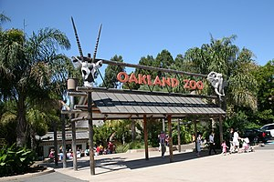 Grass Valley, Oakland, California - Oakland Zoo main entrance