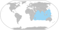 Odontodactylus scyllarus distribution map.png