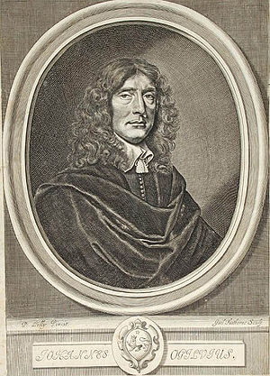 John Ogilby - Portrait of John Ogilby from a 1660 edition of Homer's Iliad