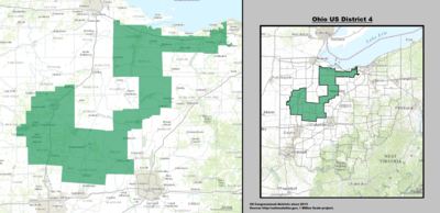 Ohio's 4th congressional district - since January 3, 2013.
