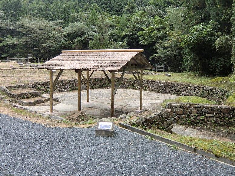 Ohitayama-tatara Iron Works  03 Dusting place of sand iron