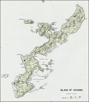 Okinawa Island Wikipedia - Us military bases in okinawa map