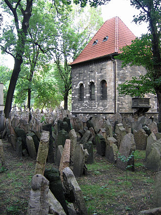 Old Jewish Cemetery, Prague - Thousands of gravestones are crammed into the Old Jewish Cemetery in Prague.
