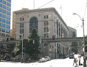 Media in Seattle - The old Seattle Times building in downtown Seattle is on the National Register of Historic Places.