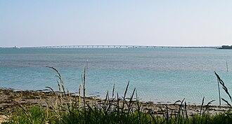 Oléron - Île d'Oléron bridge, seen from Le Château d'Oléron