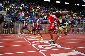 John Capel - John Capel, winner, at the Penn Relays at Franklin Field, April 26, 2008.
