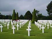 The Omaha Beach cemetery, or the Normandy American Cemetery and Memorial, near Colleville-sur-mer in Normandy, France.