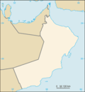 Kart over Oman