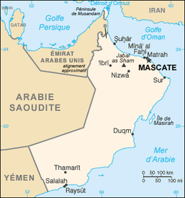 Description de l'image Oman carte.png.