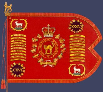 The Ontario Regiment (RCAC) - Guidon of The Ontario Regiment (RCAC), presented by Queen Elizabeth II, Ottawa, 1967