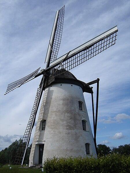 Verrebeekmolen windmill in Opbrakel. Opbrakel, Brakel, East Flanders, Belgium