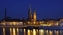Aftensbillede over Opole.