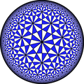 A uniform tiling of the hyperbolic plane