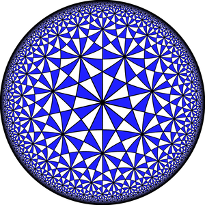 Projective linear group - Some PSL groups arise as automorphism groups of Hurwitz surfaces, i.e., as quotients of the (2,3,7) triangle group, which is the symmetries of the order-3 bisected heptagonal tiling.