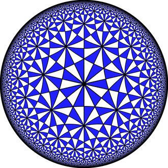 Klein quartic - The tiling of the quartic by reflection domains is a quotient of the order-3 bisected heptagonal tiling.