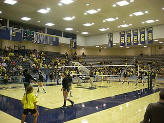 Michigan Wolverines women's volleyball - Cliff Keen Arena as it appeared during the 2013 season
