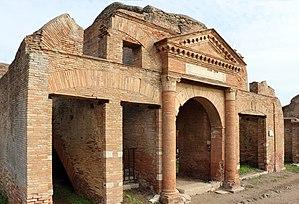 Horreum - The Horrea Epagathiana et Epaphroditiana, a horreum in Ostia built c. 145-150 AD