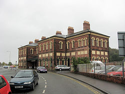 Oswestry - The former station and Cambrian Railways headquarters.jpg