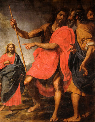 Jesus in Christianity - Image: Ottavio vannini, san giovanni che indica il Cristo a Sant'Andrea