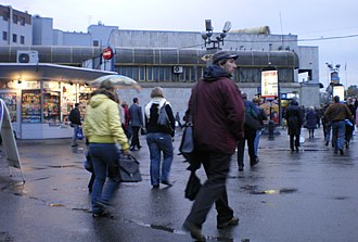 Ozerki (Saint Petersburg Metro) - Image: Ozerki metrostation Pavilion