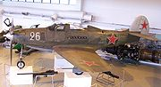 Soviet P-39Q formerly 44-2664 on display at the Aviation Museum of Central Finland