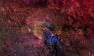 4 Vesta - Aelia Crater