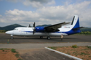Indonesia Air Transport - An IAT Fokker 50 parked at Labuan Bajo's Komodo Airport