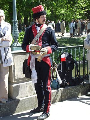 May 3rd Constitution Day - Polish cavalryman in traditional dress uniform during the celebrations of May 3, 2007