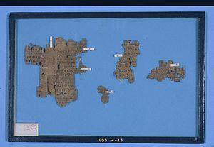 Irenaeus - Cambridge University library manuscript 4113 / Papyrus Oxyrhynchus 405.  Irenaeus. Ca. 200 AD.