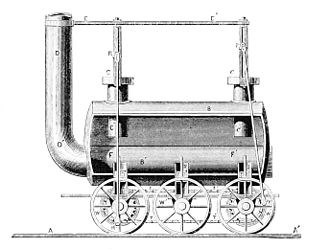 Kilmarnock and Troon Railway - 1877 drawing of a Stephenson locomotive described as 'of 1815', similar to The Duke but with flanged wheels and lacking the central sprocket wheel.