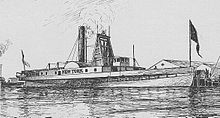 PS New York 1836 steamer by Stanton