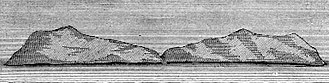 Herald Island (Arctic) - Herald Island; 1881 sketch by John Muir, who attributed the island's form to glacial action