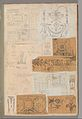 Page from a Scrapbook containing Drawings and Several Prints of Architecture, Interiors, Furniture and Other Objects MET DP372060.jpg