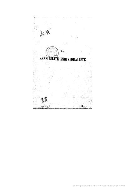 File:Palante - La Sensibilité individualiste, Alcan, 1909.djvu