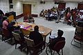 Panel Discussion - Collaboration with Academic Institutes for the Growth of Wikimedia Projects in Indian Languages - Bengali Wikipedia 10th Anniversary Celebration - Jadavpur University - Kolkata 2015-01-10 3384.JPG