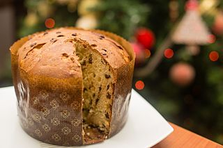Panettone type of sweet bread loaf originally from Milan