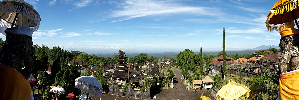 Panorama of Bali from Besakih - Mother temple
