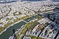 Paris View from the Eiffel Tower third floor Seine upstream Musée du Quai Branly 20171003.jpg