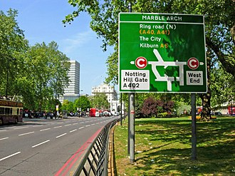 London congestion charge - Park Lane was one of the new free through routes during the existence of the Western Extension.