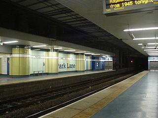 Park Lane Interchange Station of the Tyne and Wear Metro
