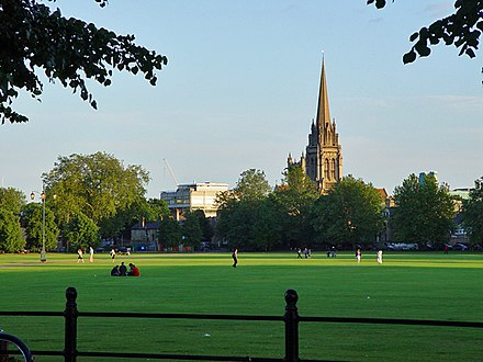 Hobbs regularly practised cricket on Parker's Piece in his youth. Parker's Piece, Cambridge - geograph.org.uk - 876342.jpg