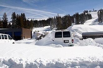 Boreal Mountain Resort - Image: Parking lot at boreal