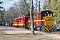 Passenger train at Matrafured Station of the Matravasut tourist railway (33255616283).jpg