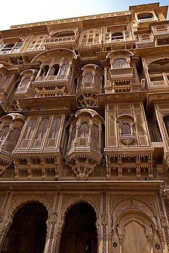 Haveli - Patwon Ji ki Haveli, Jaisalmer, Rajasthan, India.