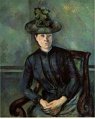 Madame Cézanne with Green Hat (Madame Cézanne au chapeau vert)