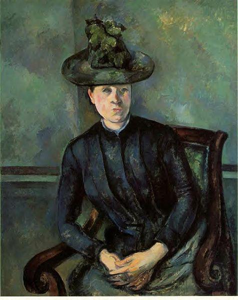 ����� Paul_Cezanne ����� ���� ������ 476px-Paul_Cezanne_Madame_Cezanne_Barnes.jpg